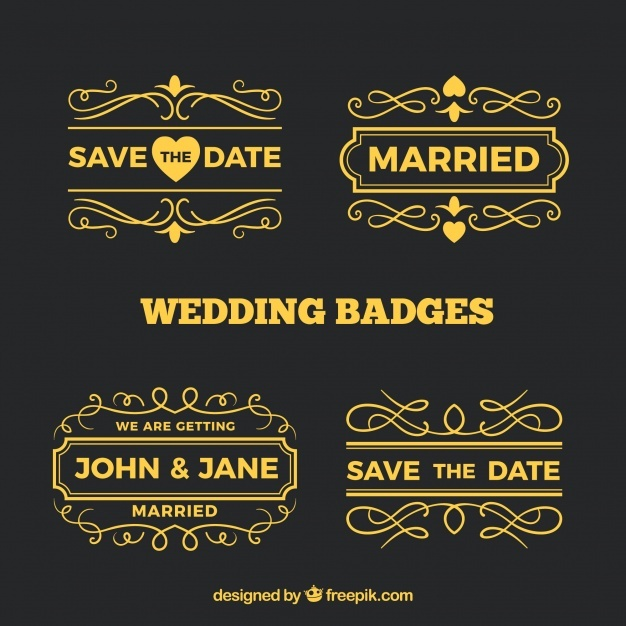 collection_of_golden_wedding_labels