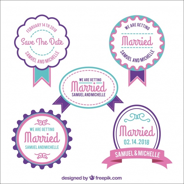 pack_of_modern_wedding_badges