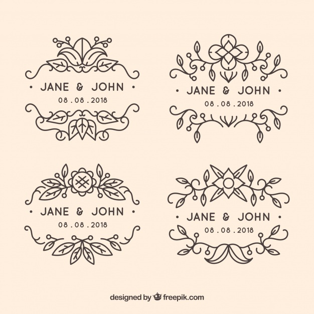 pack_of_ornamental_wedding_labels