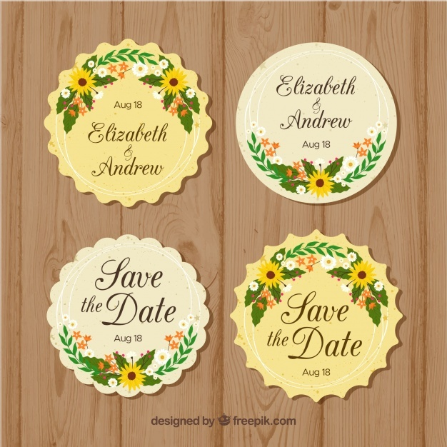 pack_of_round_floral_wedding_badges