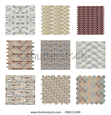 architectural_and_landscape_rocks_and_bricks_patterns_set