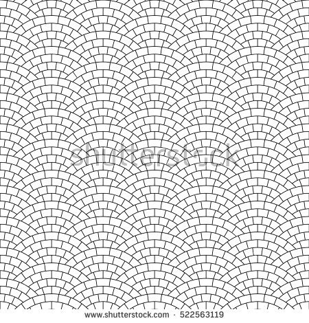 black_and_white_pavement_stone_road_seamless_pattern_vector_background