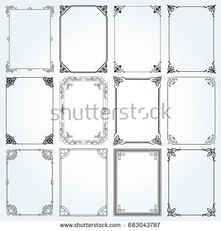 decorative_frames_and_borders_square_backgrounds_vintage_design_elements_set_2_vector