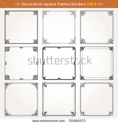 decorative_square_frames_borders_backgrounds_design_elements_set_9_vector