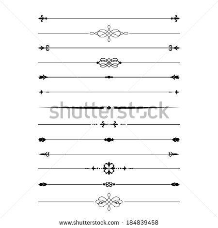 divider_set_isolated_on_white_calligraphic_design_elements