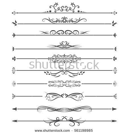 vector_set_of_line_border_on_white_background