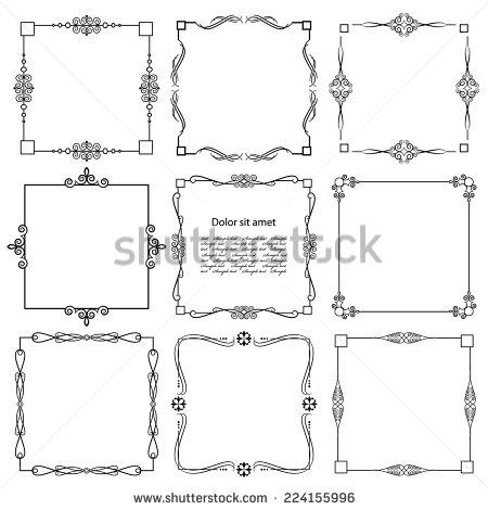 vintage_calligraphic_square_frame_set_isolated_on_white