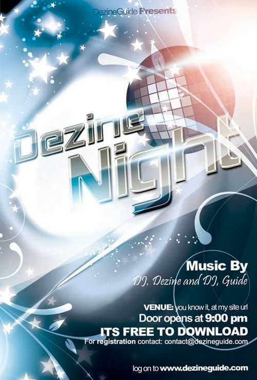 Free Party And Event Flyer PSD Templates