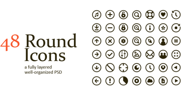a free round vector icon in PSD
