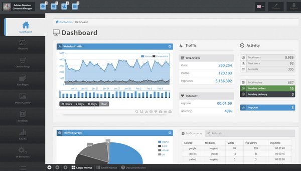 12 Powerful Responsive Admin Website Templates - XDesigns