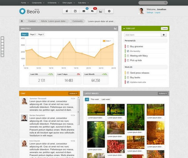 12 powerful responsive admin website templates   xdesigns
