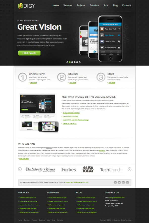 20 digy free css template1