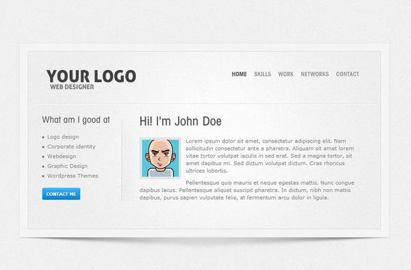 20 vCard CSS/HTML Website Templates