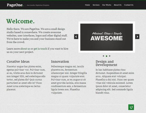 7 one page business template1