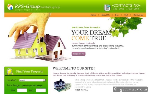 real estate website template - Free Website Templates