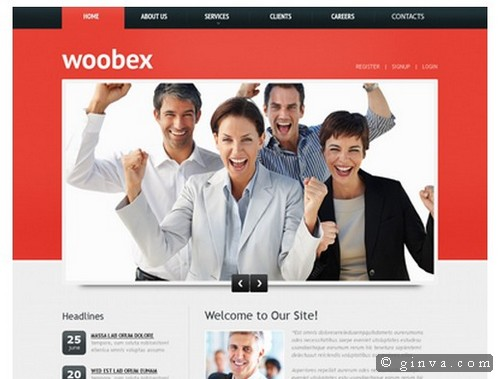 Download 50 free csshtml business website templates xdesigns 4 wajeb Choice Image