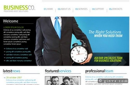 Download 50 free csshtml business website templates xdesigns 20 friedricerecipe Image collections