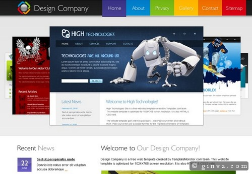 Download 50 free csshtml business website templates xdesigns 44 design company website flashek
