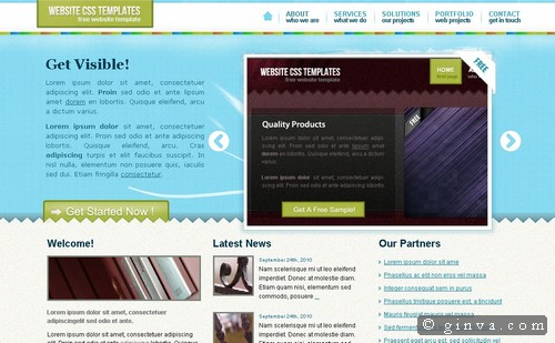 free website template 861