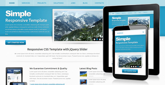 Download 50 free csshtml business website templates xdesigns 47 simple corporate templates cheaphphosting Images