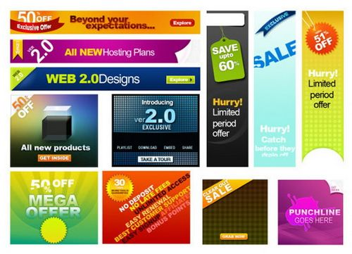 12 Well Designed And Free Web Banner Ads Psd Templates