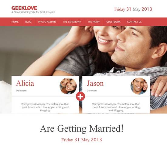 13 geeklove a responsive wordpress wedding theme