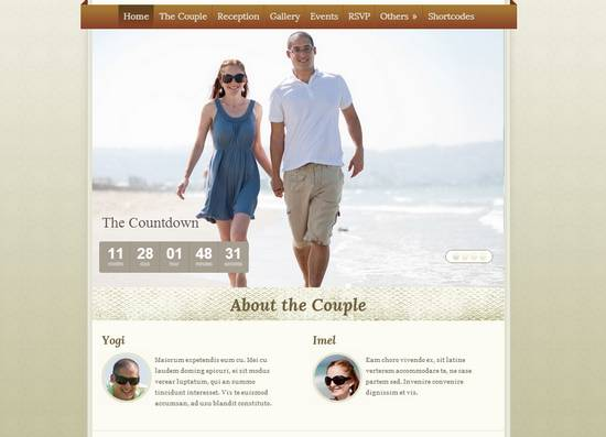 15 elegant wedding wordpress theme