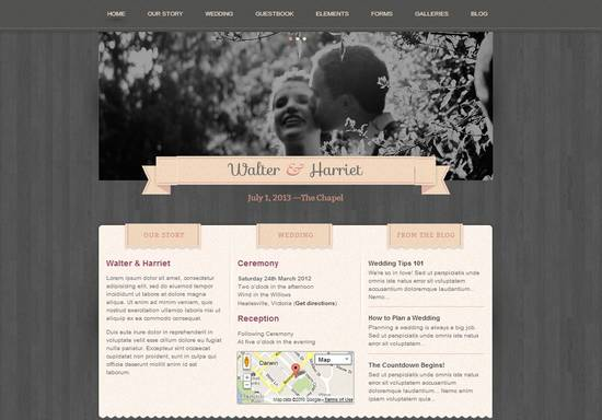 19 responsive wordpress wedding theme
