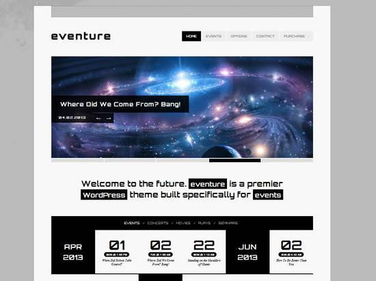 3 eventure responsive events wp theme