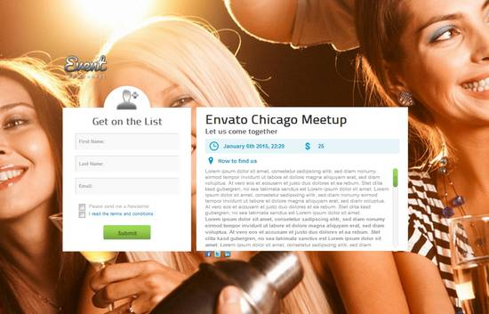 5 event guest list wordpress theme