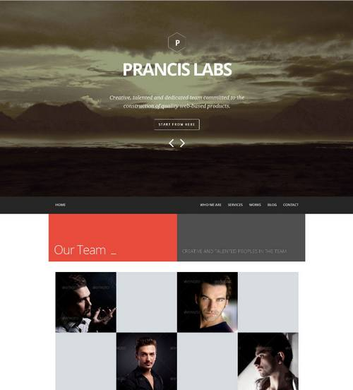 11 prancis flat clean one page site template