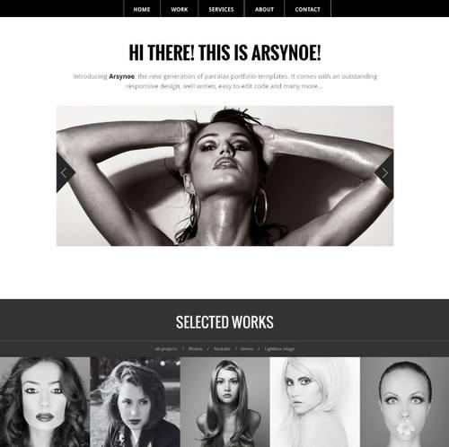 15 arsynoe professional one page portfolio
