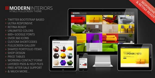16 modern interior responsive web template