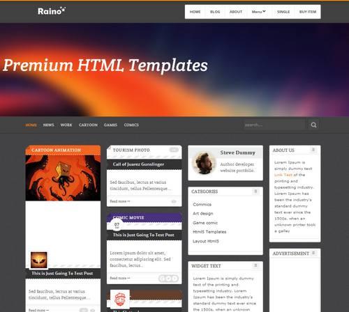 25 raino responsive template blog portfolio