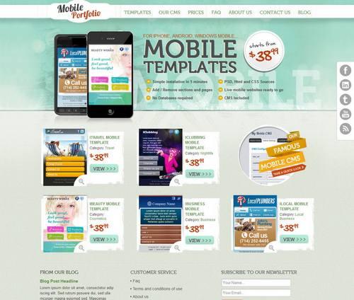 33 grungy mobile portfolio html theme