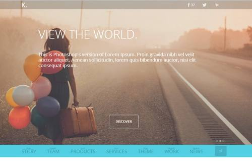 36 k responsive html5 one page