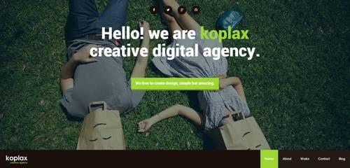 8 koplax responsive portfolio html5