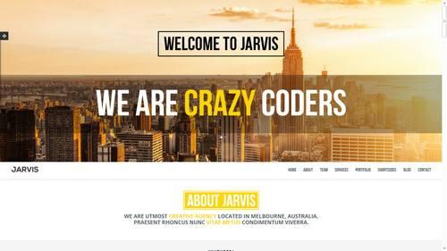 9 jarvis onepage parallax theme