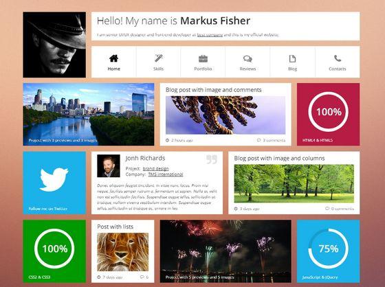 9 modern flat website template design xdesigns