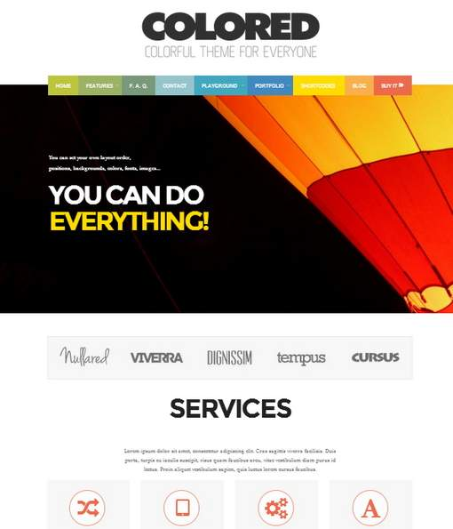 Colored Responsive Photo Gallery & Portfolio Theme