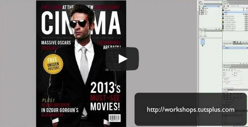 Creating a Movie Magazine Cover