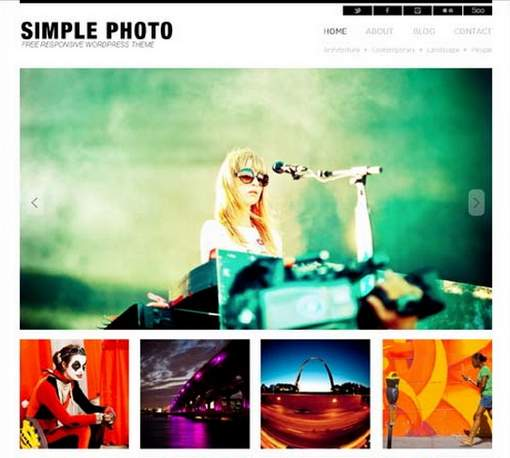 Simple Photo Responsive WordPress Theme