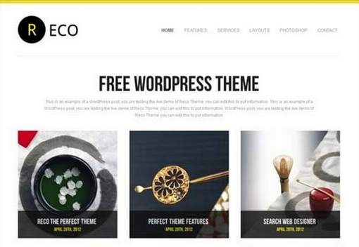 Reco free premium WordPress theme
