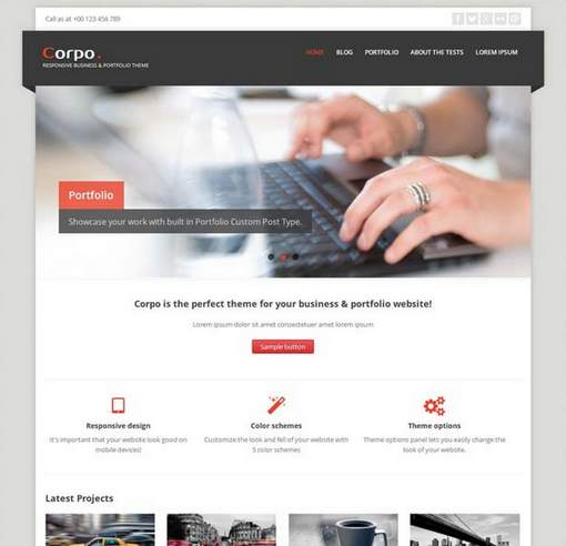 Corpo free business & portfolio wp theme