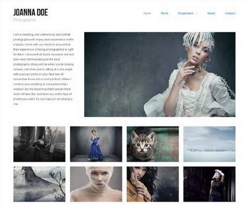 Hatch free photography and portfolio WordPress theme