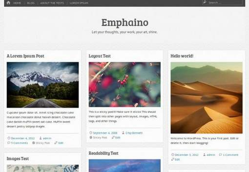 Emphaino WordPress Theme