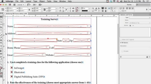 Creating Interactive PDF Forms in InDesign CS6 (Video Tutorial)