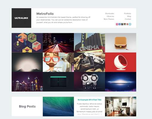 MetroFolio WordPress Portfolio Theme