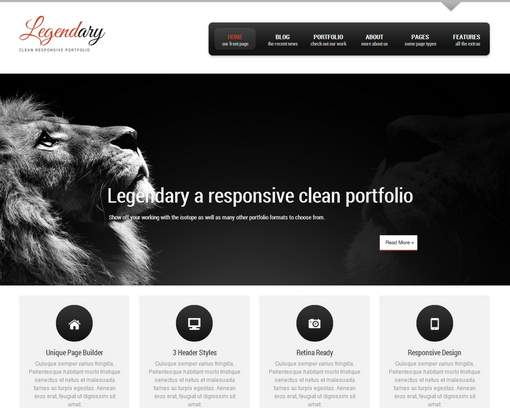 Legendary - Responsive WordPress Theme