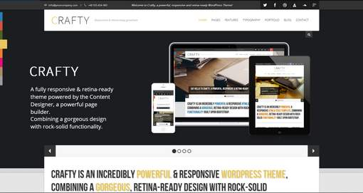 Crafty - Responsive Retina-ready WordPress Theme
